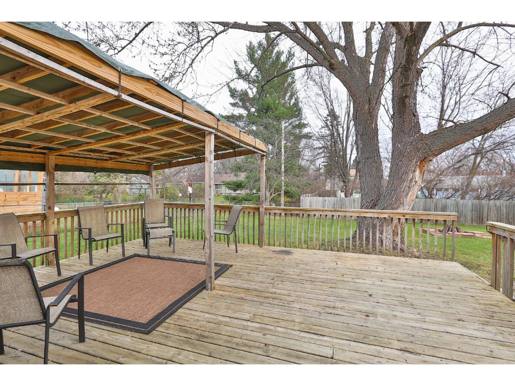 The large 22 x 17 deck is a wonderful spot to entertain guests.  The deck is partially shaded and has plenty of room for dining or just relaxing.