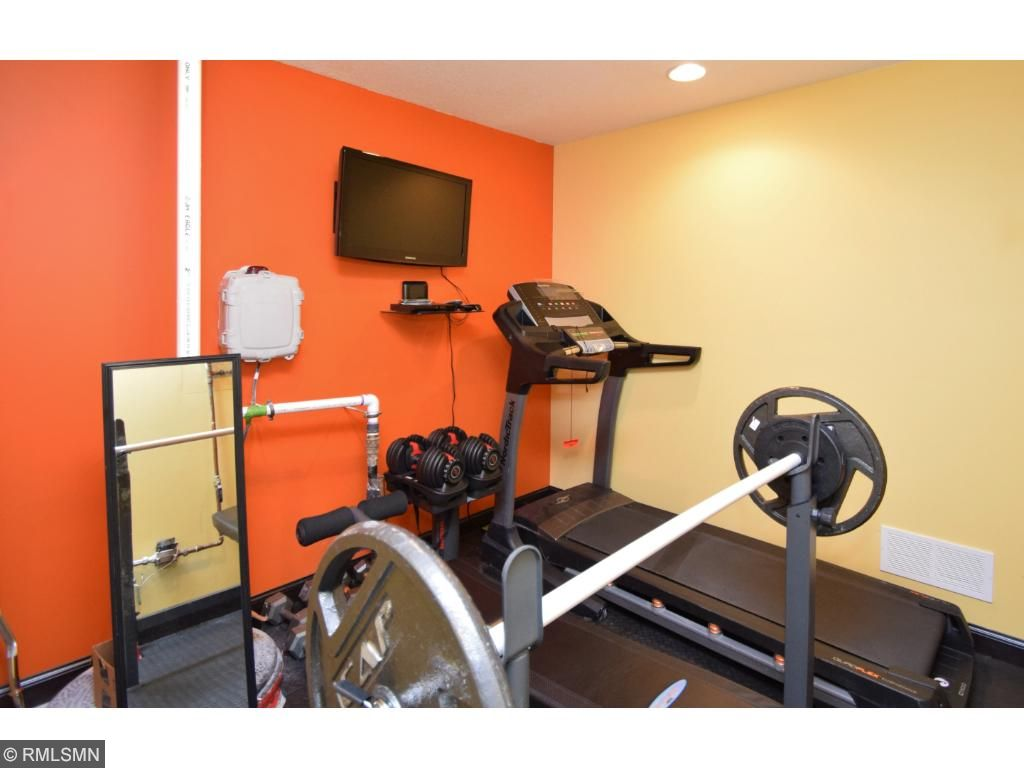 Great exercise room in lower level.