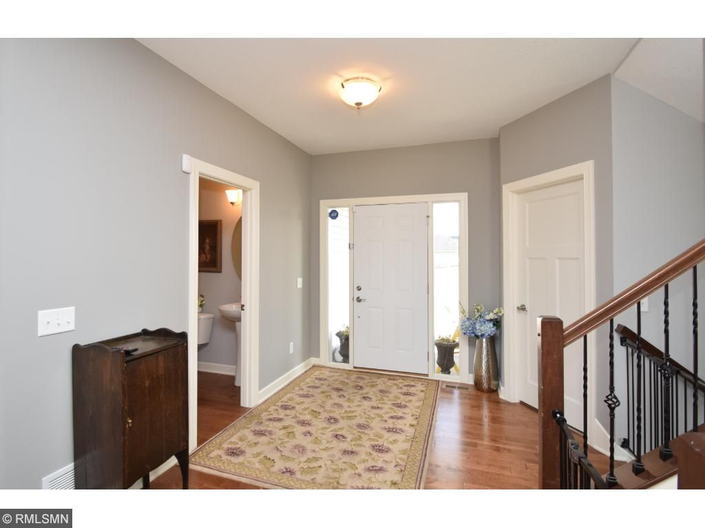 Welcoming entry with everything todays new home buyer would expect - even the neutral color scheme of today.
