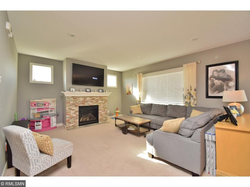 Perfect great room with beautiful gas fireplace.