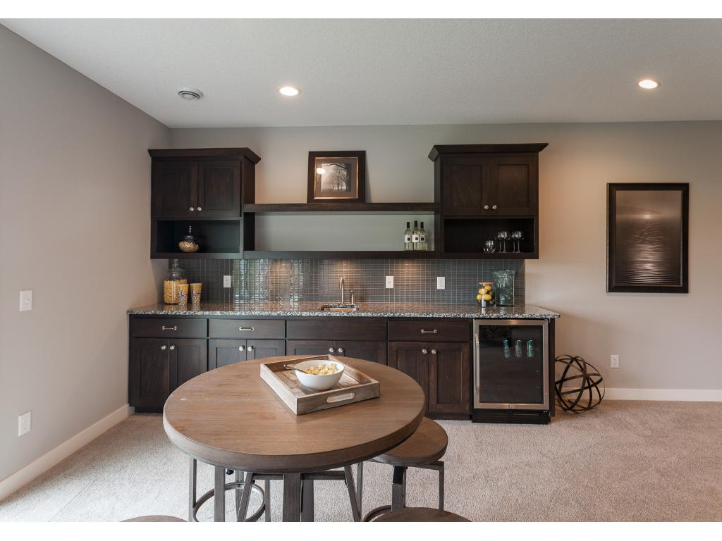 Wet Bar and Gaming Area