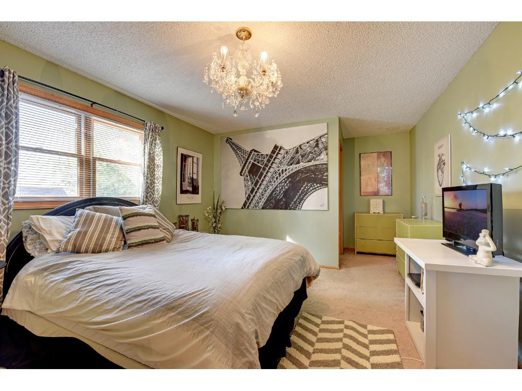 Each generously sized bedroom features its own personal walk-in closet.
