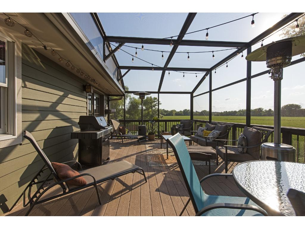Porch offers panoramic views overlooking Lost Lake.