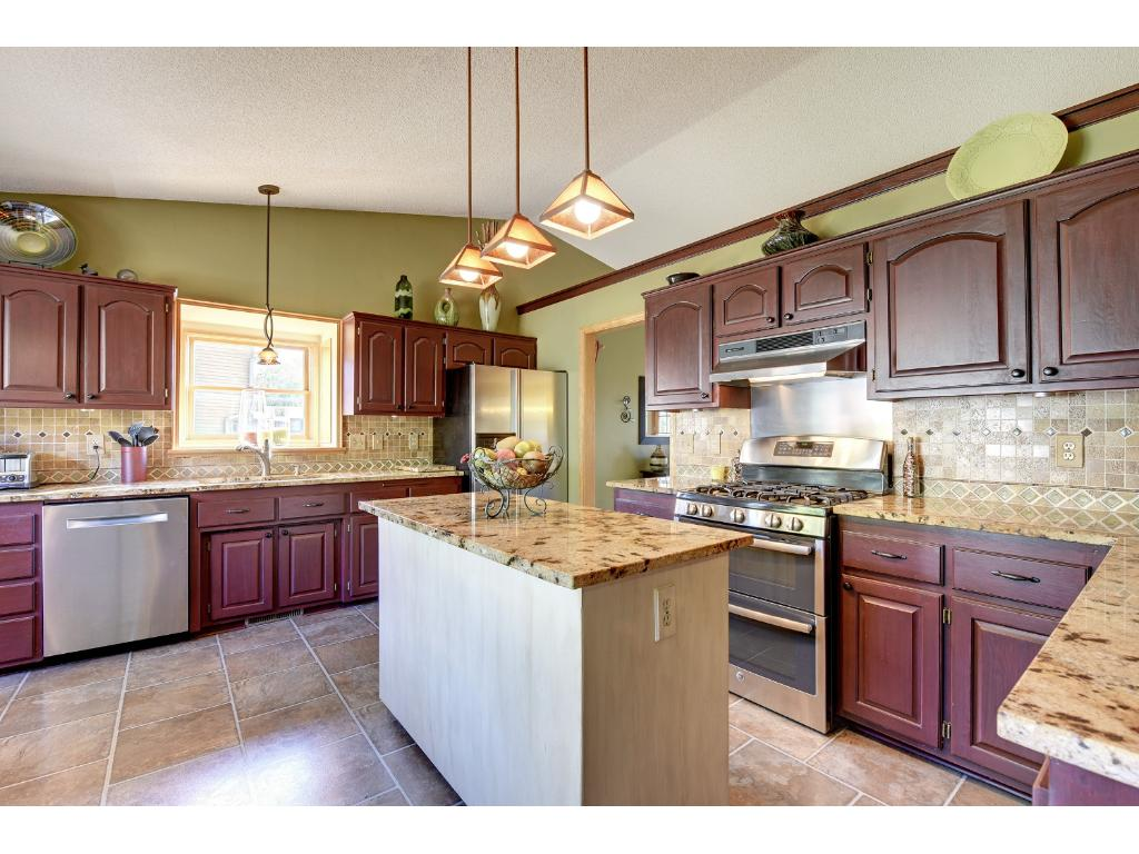 The kitchen is a chef's dream -- All new appliances, custom cabinets, and newer granite countertops.