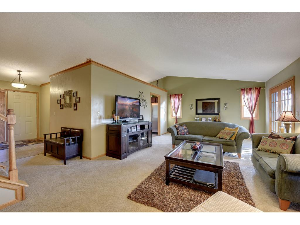 Vaulted ceilings provide for feel of spaciousness.