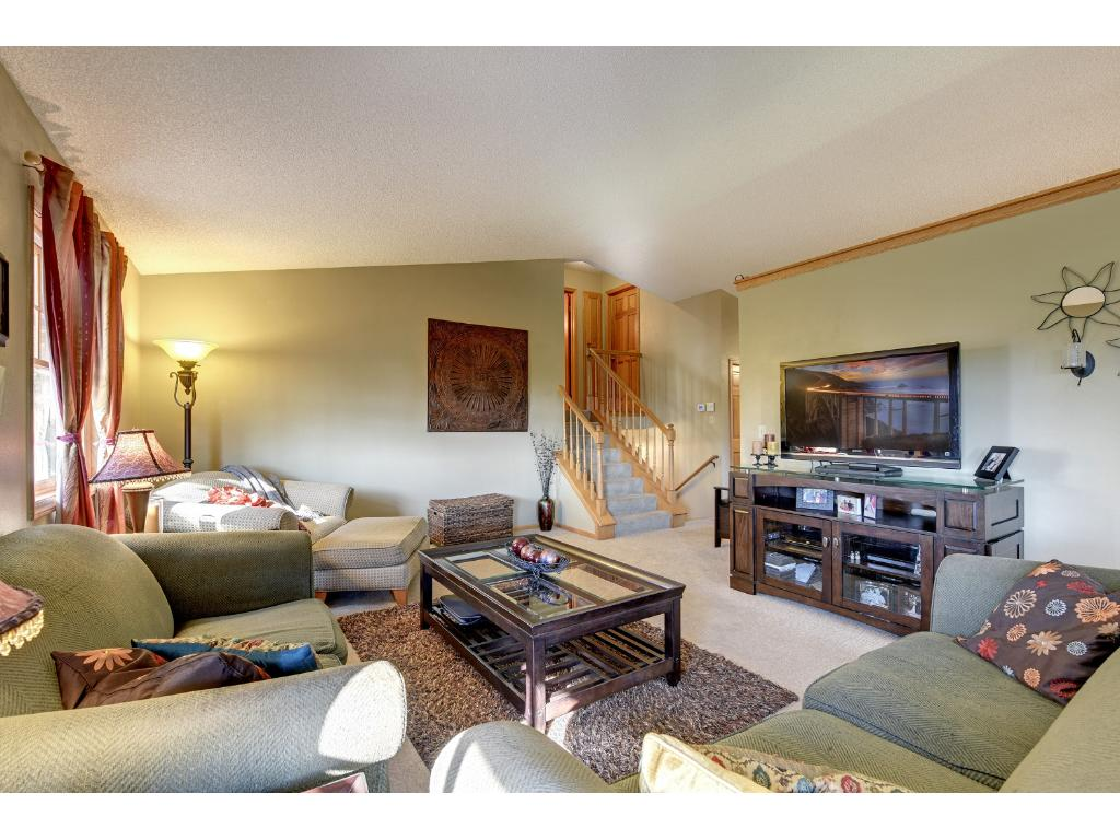 Light, bright, and open spaces for entertainment or relaxation.