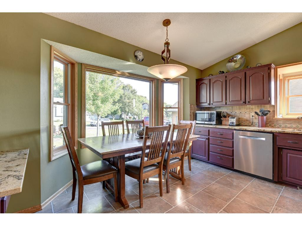 Eat-in kitchen can accommodate even the largest families.