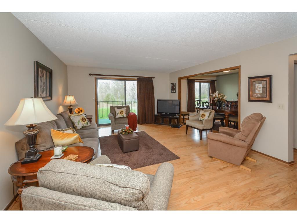 Living Room w/ hardwood floors