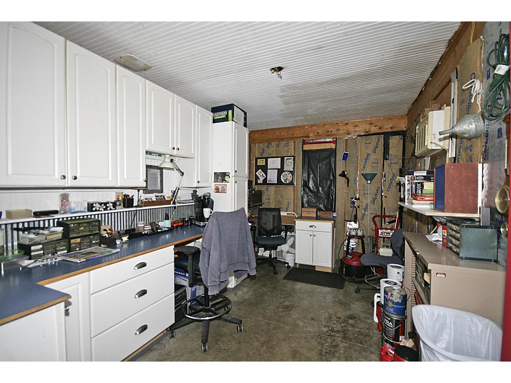 Workshop in garage.