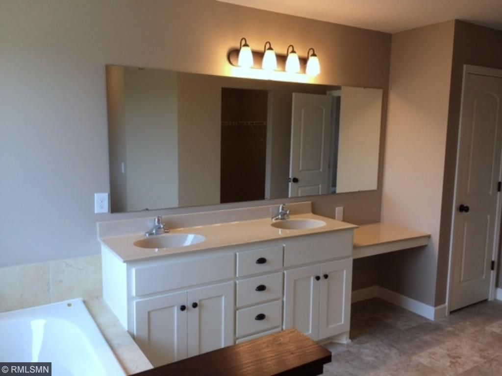 Vanity in the spacious master bath suite.