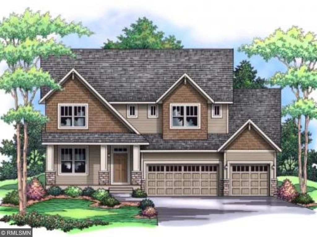 Artist rendering of this home. Creekview floorplan, Elevation D.