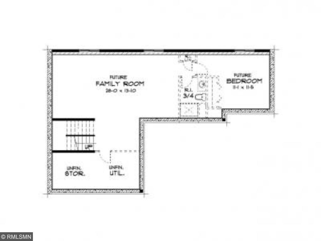 Lower level. This home has the basement fully finished, slightly different than depicted here, but same base footprint.