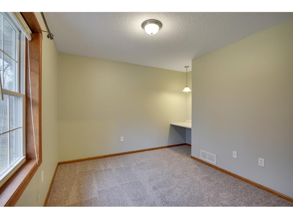 The 2nd Bedroom on the Upper Level is a Nice Size with corner nook and Big Closet.