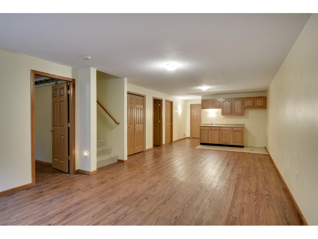 The Basement has this Humongous Family Room with Wet bar!