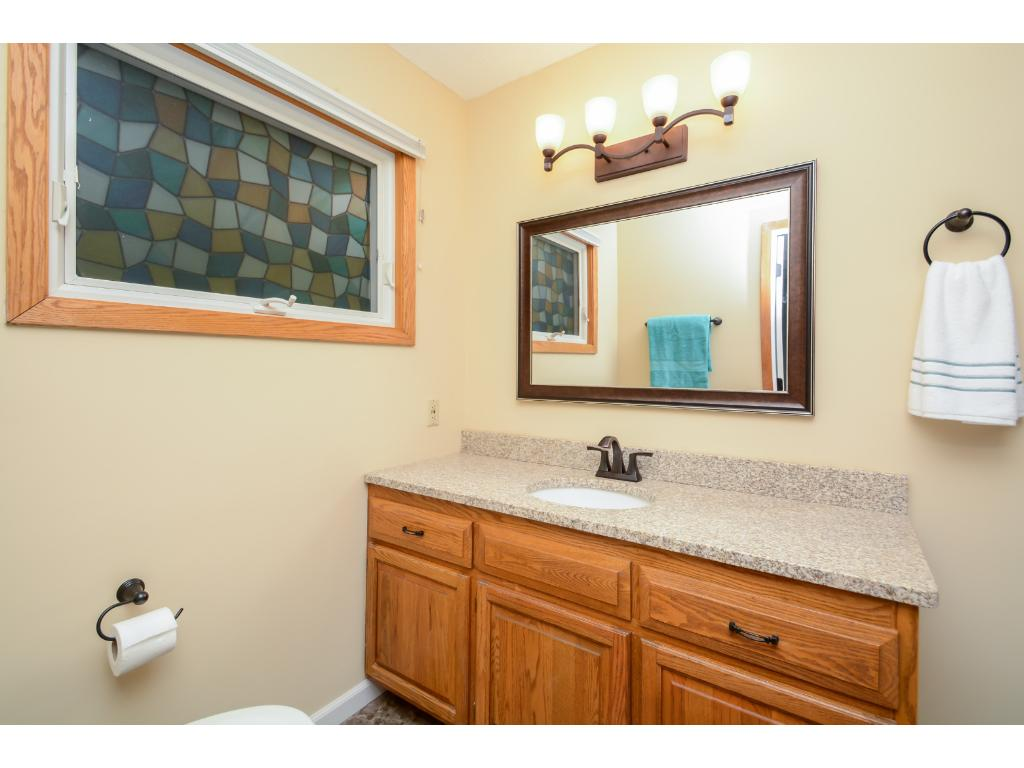 Remodeled master bath with beautiful granite counters, new tile flooring and all the extras!