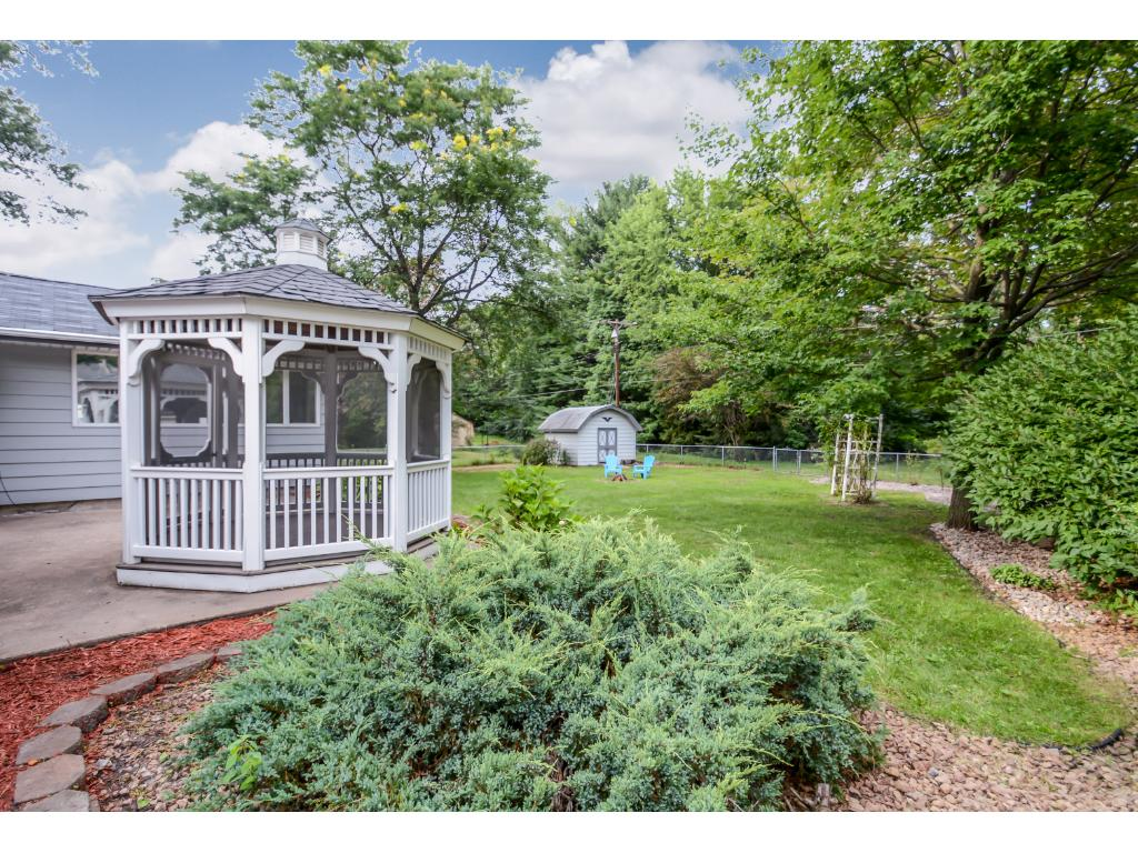 Gazebo in back yard