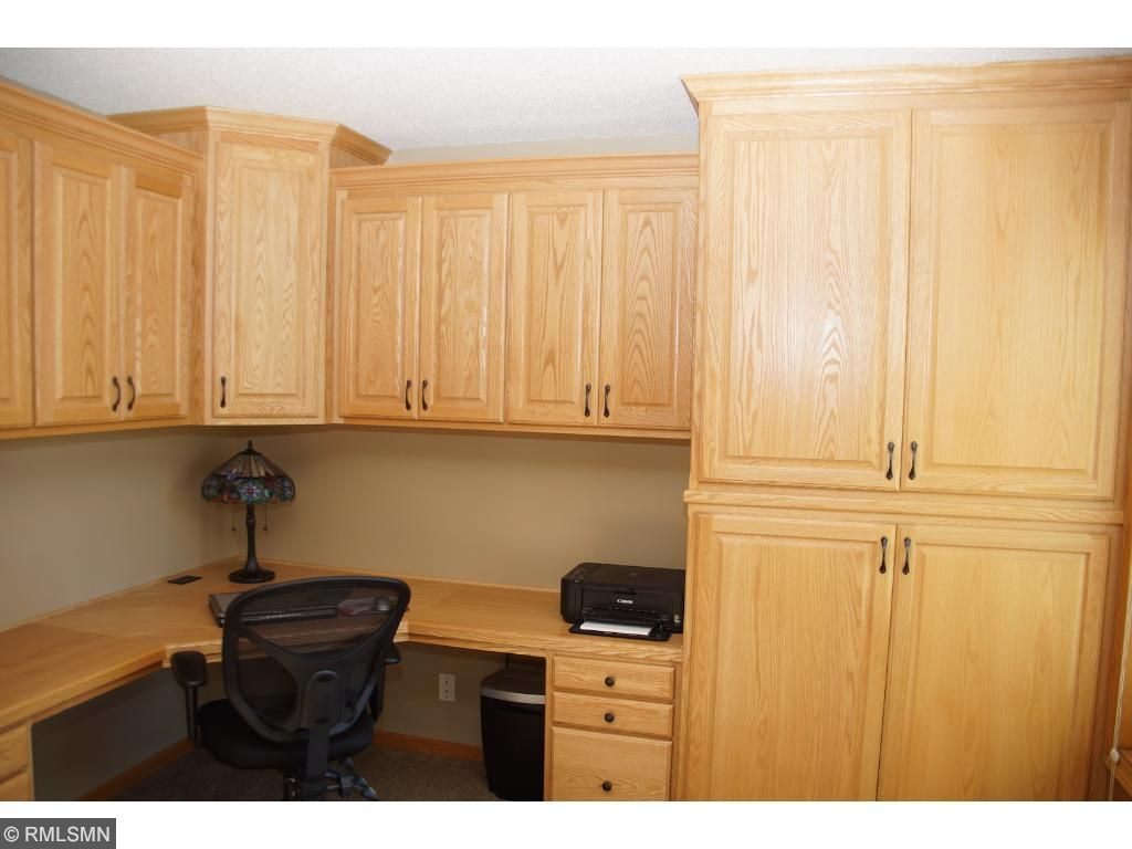 Custom built desk and cabinets in main floor office