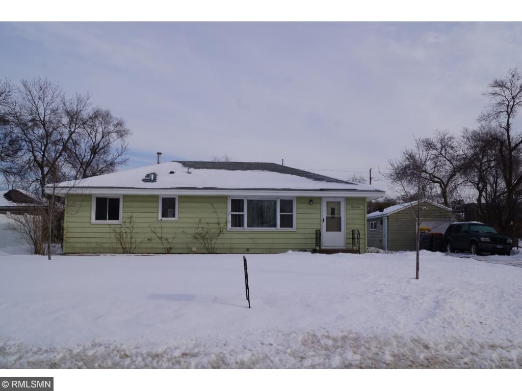 One level home with low maintenience siding on oversized lot.
