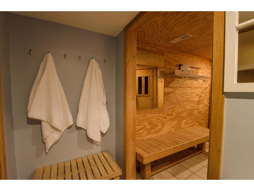 Your own sauna to relax in.