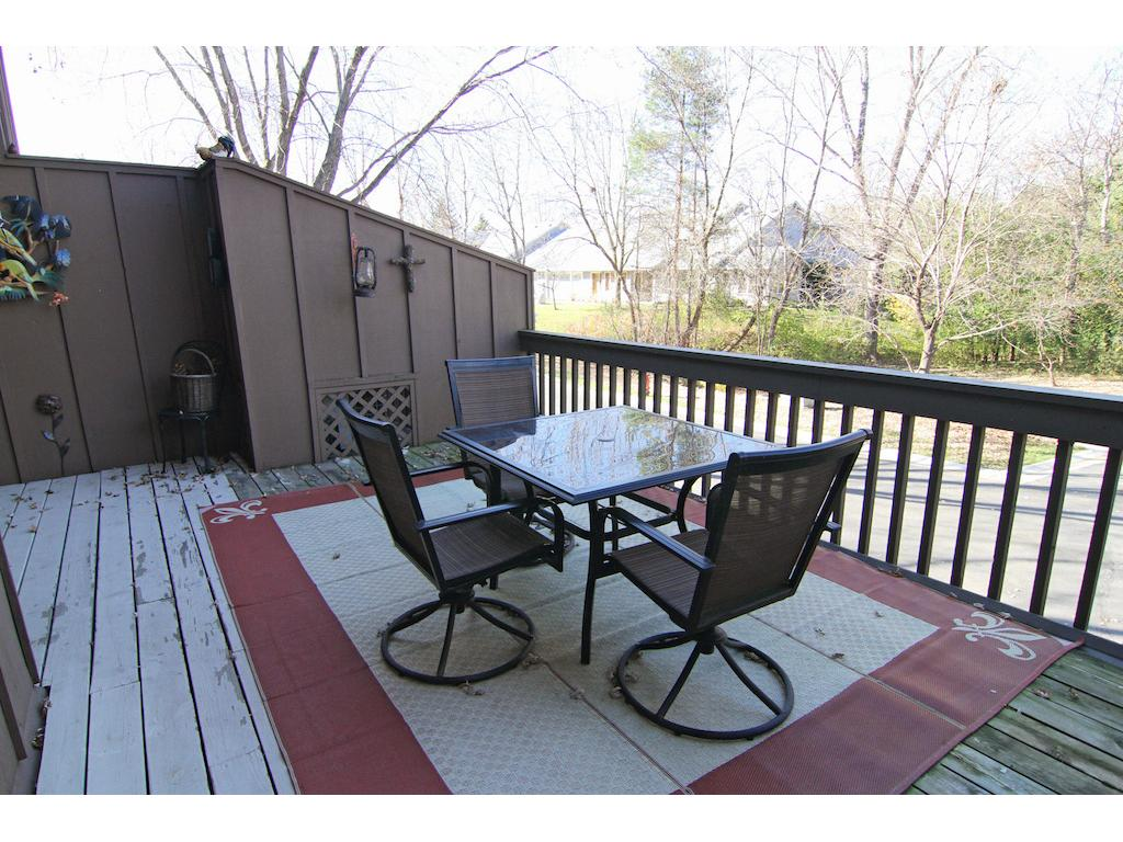 Huge deck off the kitchen and dining area