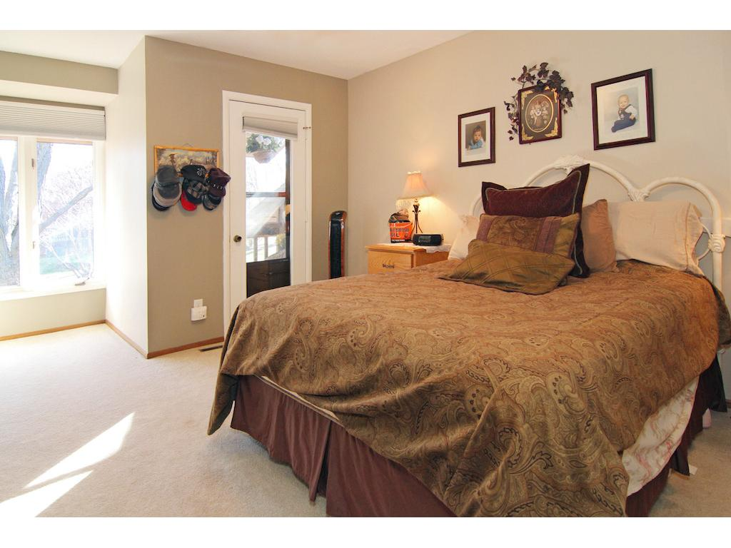 Huge master suite with private balcony, large closet space and private master bath.