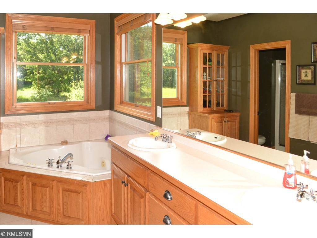 Master bathroom with large jetted tub.