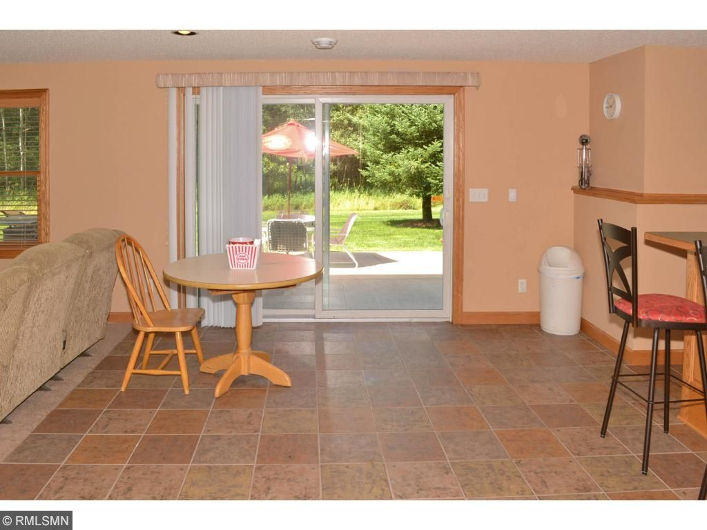Walk out at the lower level to the astonishing patio.