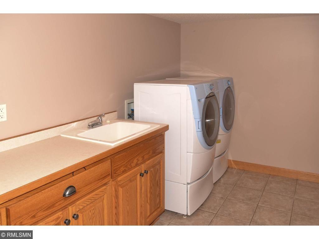Lower level laundry room.