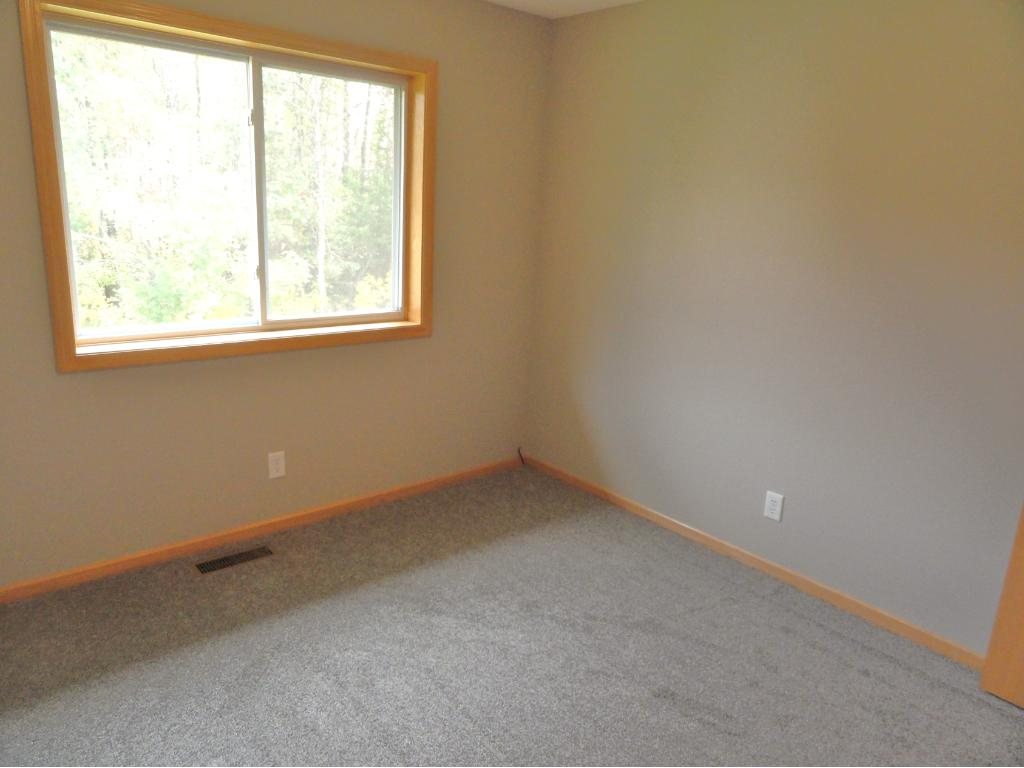Third bedroom has new paint and carpet, and beautiful views of nature.