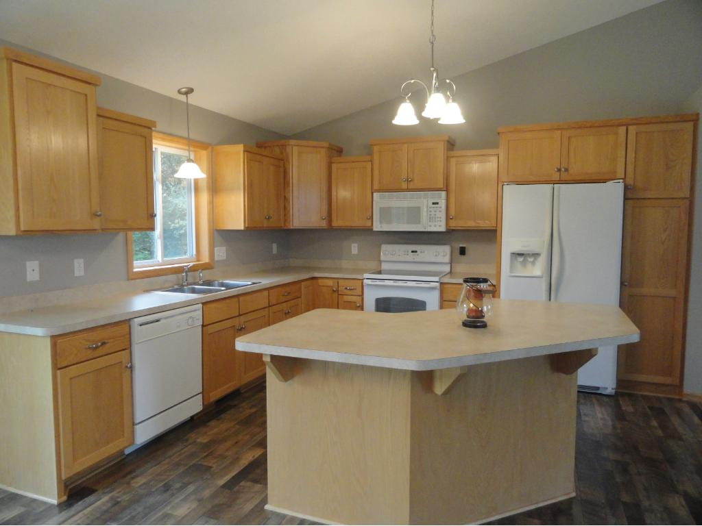 Another view of the open kitchen.