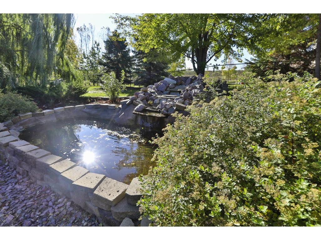 Custom Landscaping with coy pond!