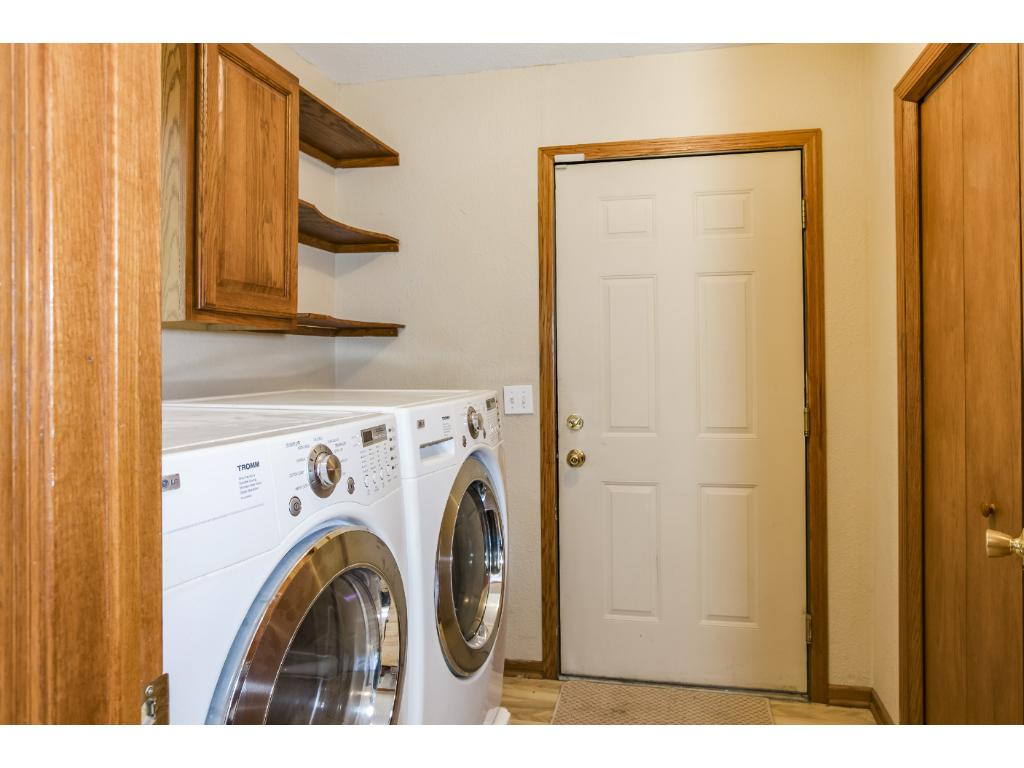 Laundry conveniently situated on main level, right off kitchen. Abundant storage!