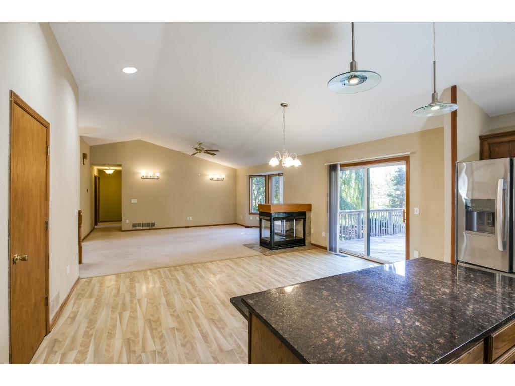 Coveted open floorplan, vaulted ceilings, natural light!