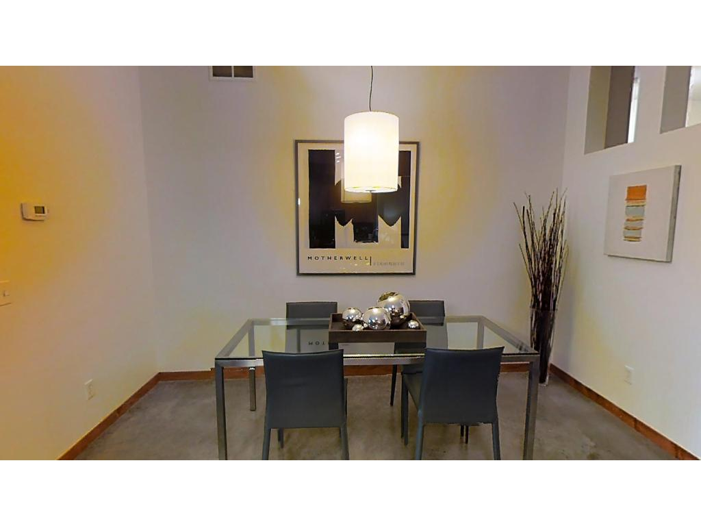 Dining room is open to the kitchen and both living areas