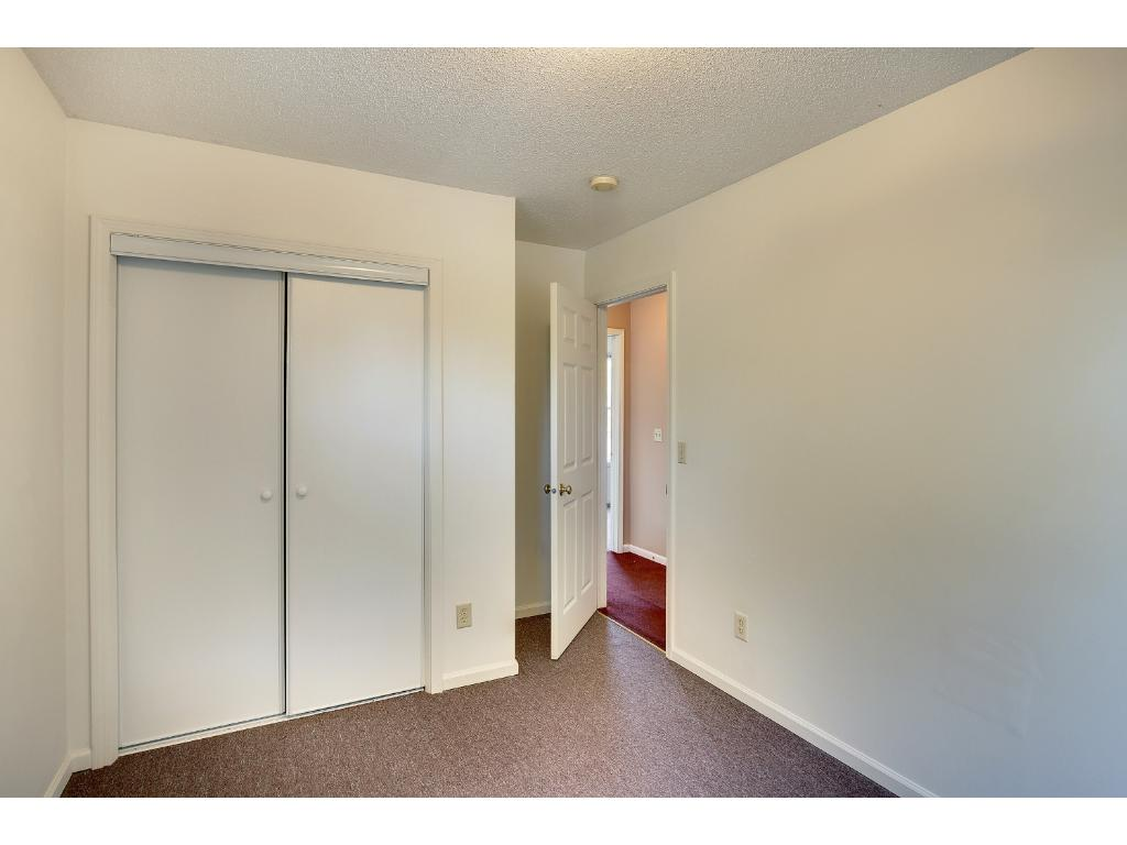 Rooms feature good closet space