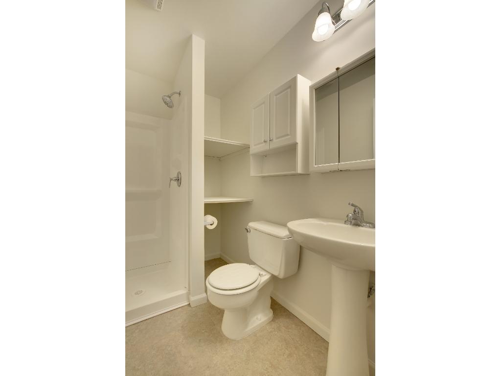 Newly added 3/4 bathroom in basement