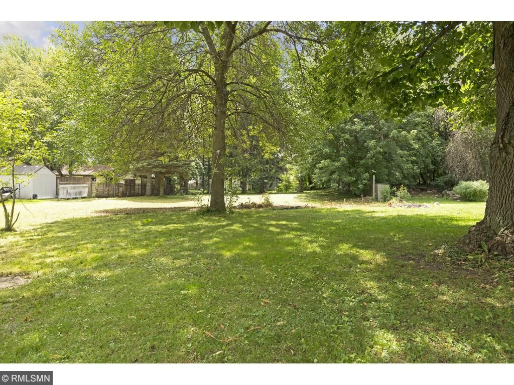 This long & level lot has great tree coverage. 26XX 5th St. E., Maplewood, MN.