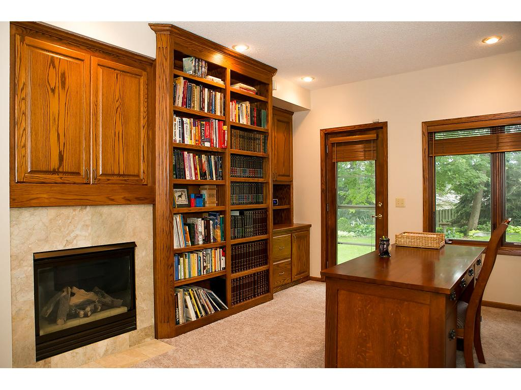 Home office tucked behind garage, with views and separate entrance to back yard!