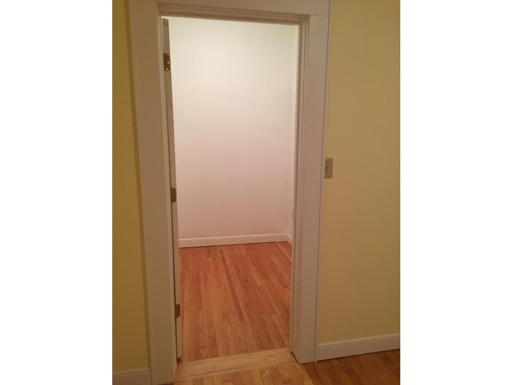 Large walk-in closet for this age of home!