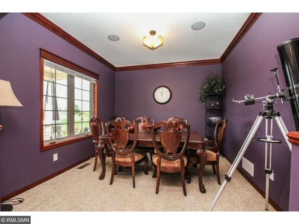Formal dining room with crown molding!