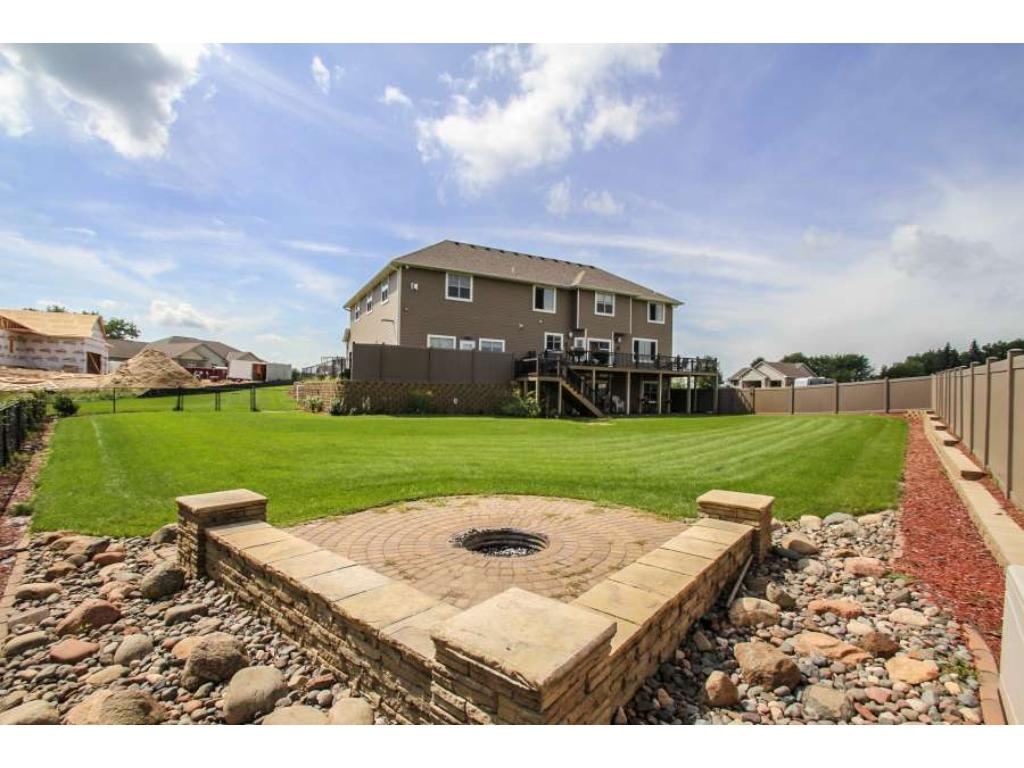 Privacy fencing, built-in firepit with sitting area!