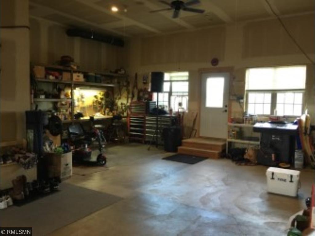 Large workshop area in garage!