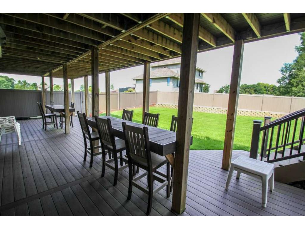 Lower level walks-out to one of the huge multi-level maintenance-free decks!