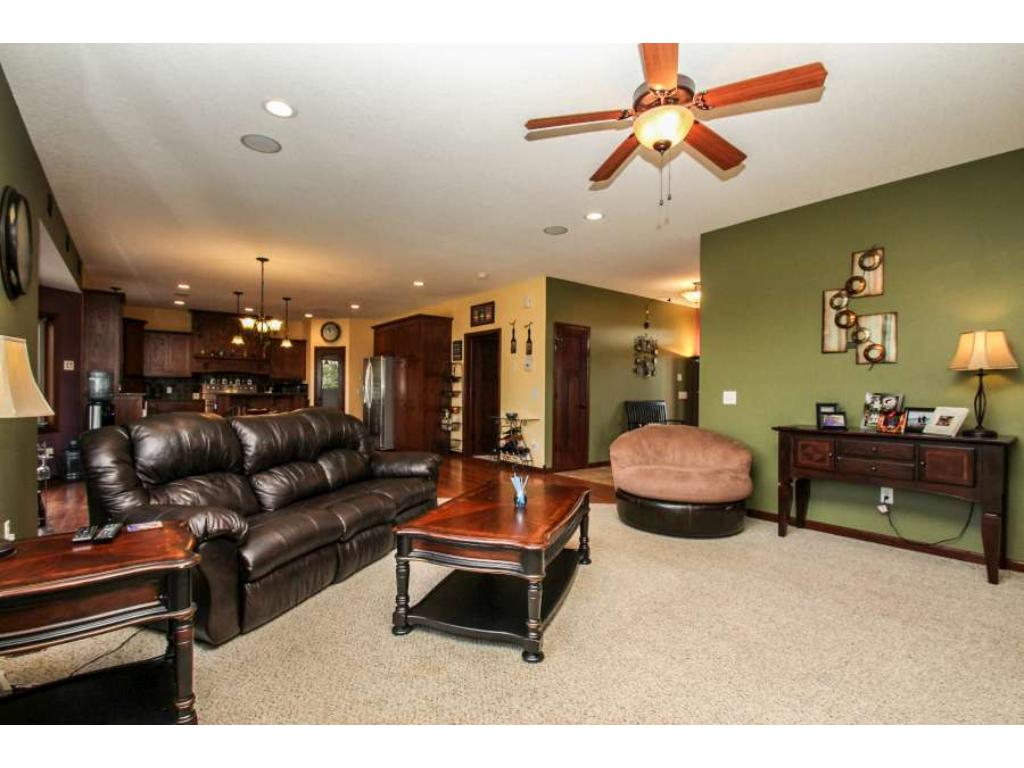 Open layout of great room, dining and kitchen!