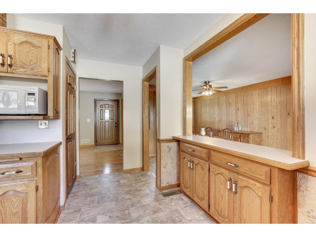 Wonderful amount of space throughout this home.  Just look at all of the cabinet and counter space here in the kitchen.