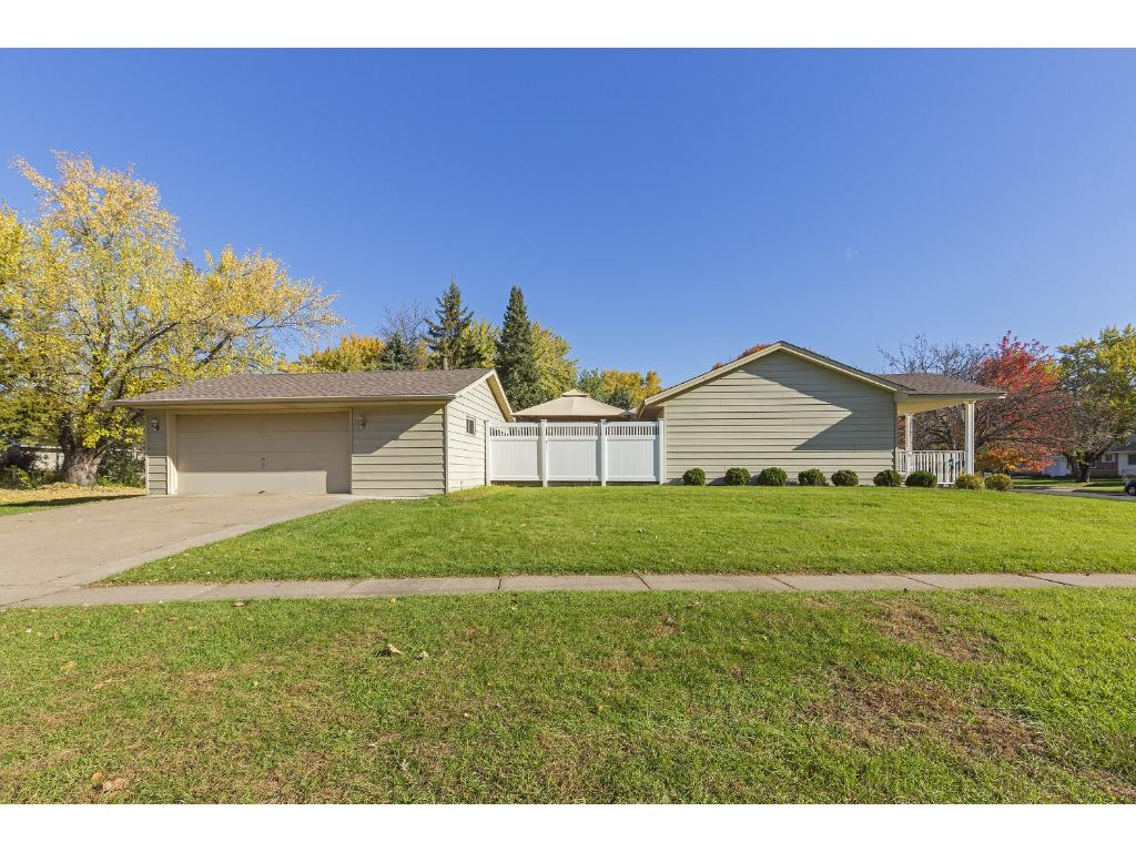 Oversized 2 stall garage with concrete driveway, insulated and heated garage.  Nice corner lot with sidewalks for those leisurely walks.