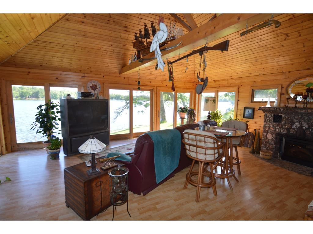 Great lake views from inside the house with large windows...let the outside in!