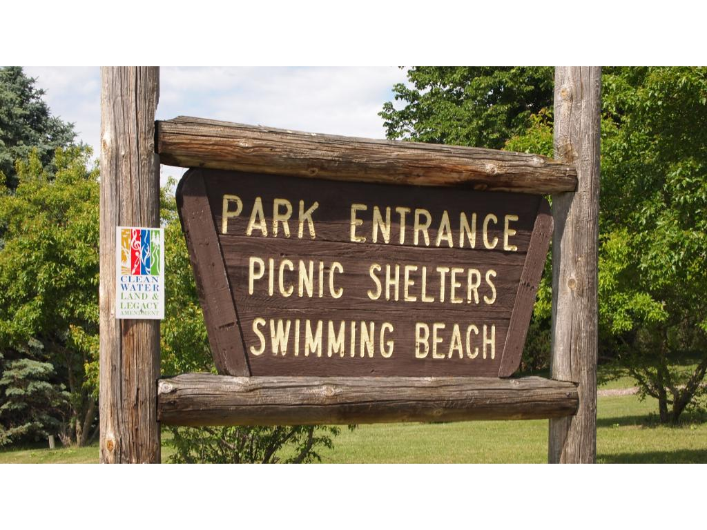 Park with swimming beach