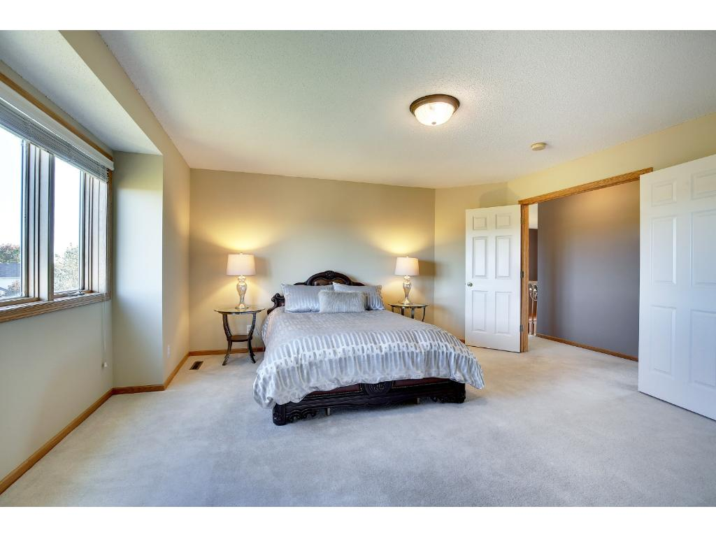 Huge master suite comes with tray ceiling, spacious walk in closet, private bathroom and VIEWS!