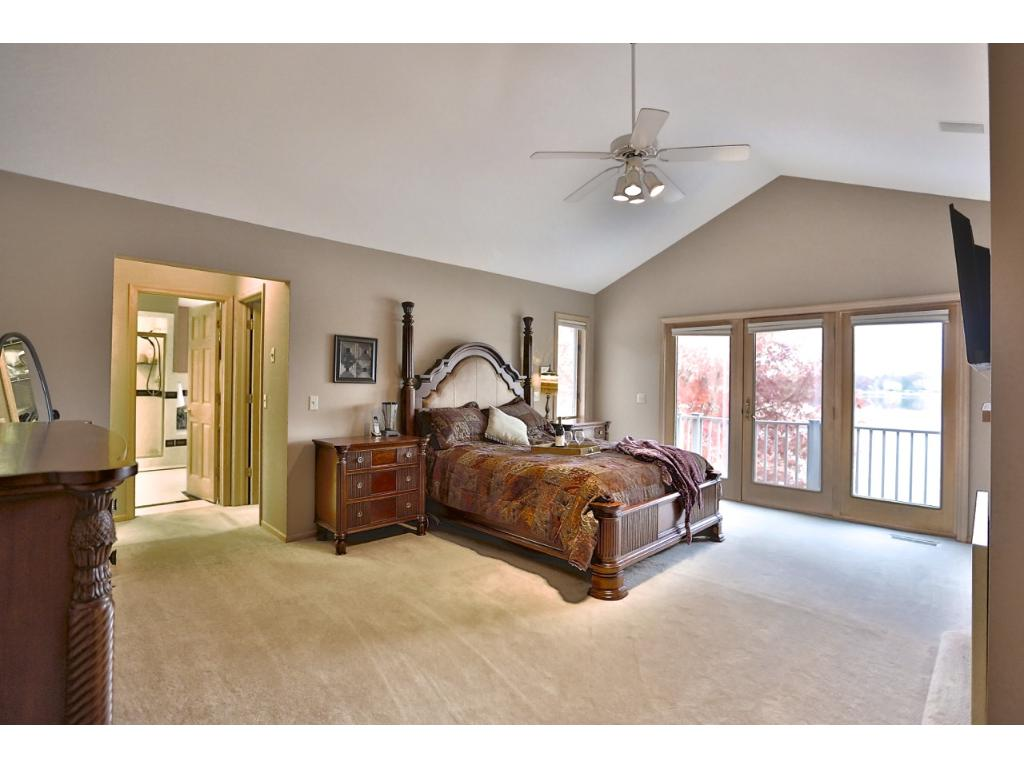 Large Master Suite w/ Balcony, Private Bath and Walk in Closets